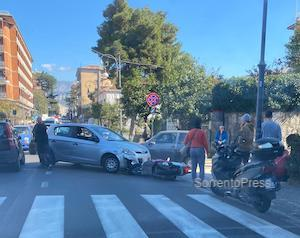 Incidente a Sorrento, ferita una donna