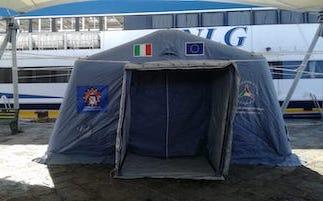 Installato il presidio per i test Coronavirus al porto di Sorrento