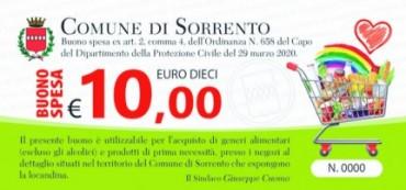 Da domani la distribuzione dei buoni spesa a Sorrento