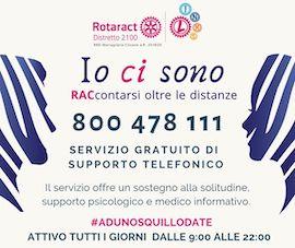 I Rotaract Club creano un numero verde di supporto psicologico