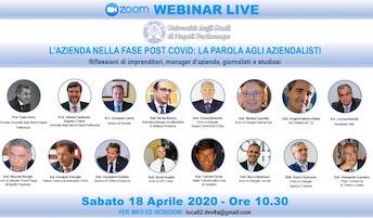 Un seminario online dell'Università Parthenope sulla fase 2 con il sindaco di Sorrento