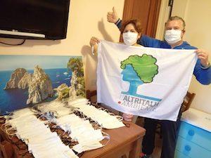 A Sorrento arrivano mascherine donate dalla Puglia