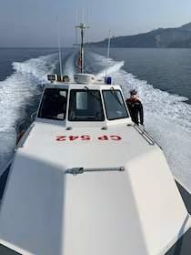 Barca alla deriva, in 4 soccorsi dalla Capitaneria a Massa Lubrense