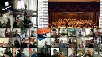 La musica degli studenti del Grandi di Sorrento come augurio per la ripresa – video –