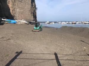 Oggi la spiaggia libera di Sant'Agnello chiusa per lavori