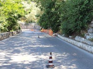 Lavori in corso per il rifacimento delle strade di Massa Lubrense