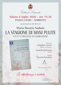 """A Sorrento presentazione del libro """"La stagione di mani pulite"""" di Maria Rosaria Sodano"""