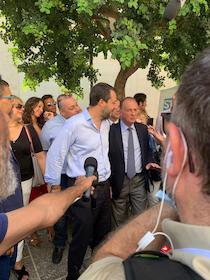 Salvini a spasso per Sorrento con il sindaco Cuomo. Pressing per la candidatura?