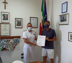 Il comandante Arma in visita alla Capitaneria di Castellammare