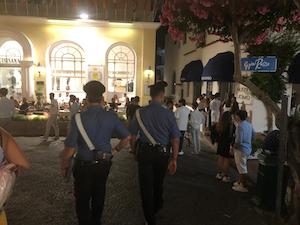 Capri, controlli dei carabinieri per la movida e la sicurezza in mare