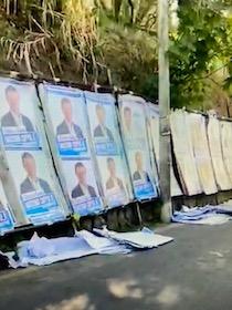 Sorrento invasa dai manifesti elettorali strappati – video –