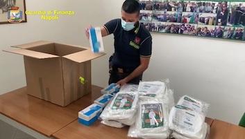 Sequestrate 29mila mascherine non a norma in provincia di Napoli