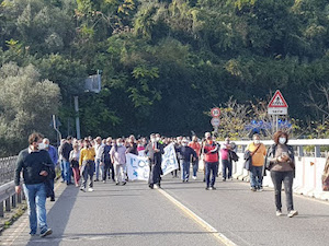 Corteo di protesta contro la chiusura del pronto soccorso di Vico Equense