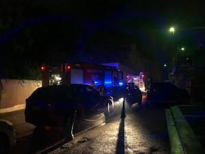 Incendio in un'autorimessa di via Marziale a Sorrento