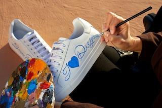 L'omaggio dell'artista Patrizia Costante e di Capri Watch a Maradona