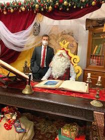 Babbo Natale in diretta Facebook con il sindaco di Sorrento