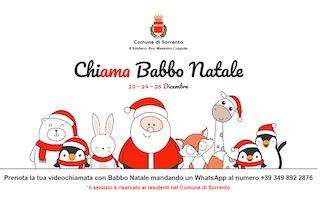 Addio letterina, a Sorrento Babbo Natale fa la videochiamata