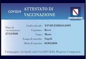 A Sorrento distribuzione card vaccinali