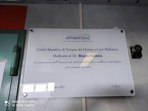 Dedicato al dottor Galizia il reparto di Terapia del dolore di Gragnano