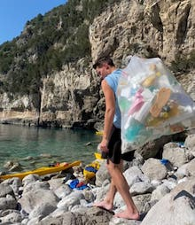raccolta-rifiuti-kayak-punta-campanella