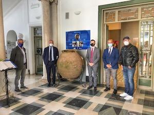 Esposto alla Villa Fiorentino di Sorrento il dolio ritrovato durante i lavori per la metanizzazione