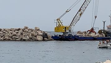 Al via i lavori alla scogliera di Marina di Puolo a Massa Lubrense