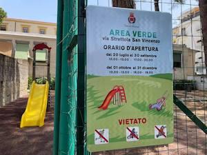 Sorrento. Apre l'area verde di via Strettola San Vincenzo