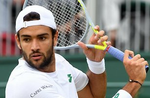 Matteo Berrettini del team Capri Watch in finale a Wimbledon