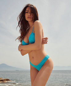 La sorrentina Francesca Tizzano sexy madrina dell'Ischia Global Festival