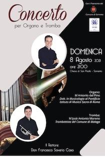 Domani concerto nella chiesa di San Paolo di Sorrento