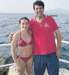 Vacanze in costiera per la ginnasta Vanessa Ferrari