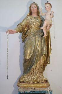 Torna nella chiesa dei Santi Felice e Baccolo di Sorrento la statua della Madonna del Rosario restaurata